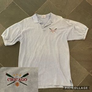 Chicago nautical embroidered logo polo SZ L NWOT